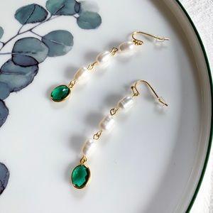 17Basics freshwater pearl drop earrings